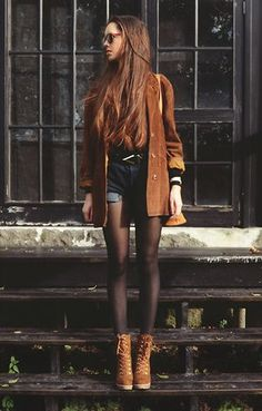 Fall Outfits with Boots tumblr | belt, blazer, boots, coat, cute outfit - inspiring picture on Favim ...