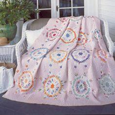 Vintage View: FREE Rainbow Stars Blazing Star Quilt Pattern Download