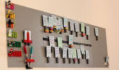 An Inspiring Lego Made Kanban Board – Garage Organization DIY Agile Board, Scrum Board, Kaizen, Legos, Kanban Board, Lean Startup, Visual Management, Innovation, Cool Ideas