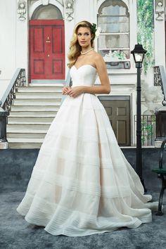 Tiered Organza Ball Gown with Cummerbund JA 8949