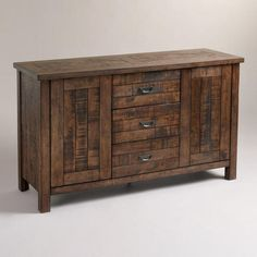 One of my favorite discoveries at WorldMarket.com: Garner Sideboard considering as a vanity for master bath.