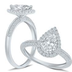 Wedding Engagement, Diamond Engagement Rings, Wedding Bands, Marry Me, Pear Shaped, Proposal, Bridal Jewelry, Diamond Jewelry, Diamonds