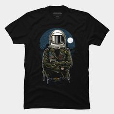 Astronaut Rebel is a T Shirt designed by MisfitInVisual and is available at Design By Humans Astronaut, Rebel, Tank Man, Shirt Designs, Trending Fashion, Pullover, Hoodies, Womens Fashion, Mens Tops