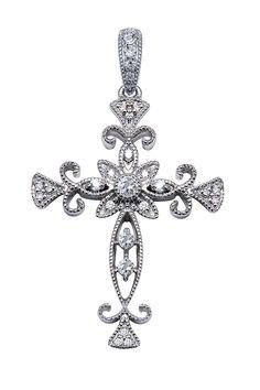 Alex A Diamond Cross Pendant