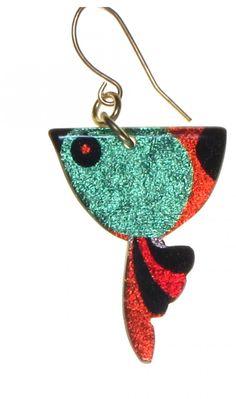 4138-4 - Green Bird Earring originjewelry.net