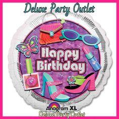 "Mylar 18"" 119952 glitzy girls balloons"