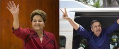Dilma Rousseff x Aécio Neves: segundo turno das Eleições 2014 (Fotos: AP Photo/Felipe Dana e AP Photo/Eugenio Savio)