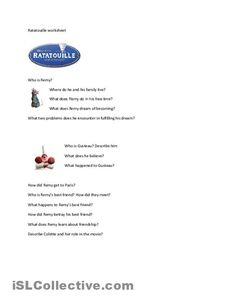 Ratatouille movie worksheet worksheet - Free ESL printable worksheets made by teachers