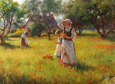 Gregory Frank Harris ''Wild Poppies''
