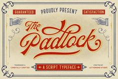 The Padlock - A Vintage Script by Letterhend Studio on @creativemarket
