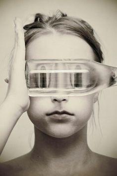 Brittany DeJesus - LOAF, fishbowl, self portrait, modern portrait photography Distortion Photography, Conceptual Photography, Creative Photography, Surrealism Photography, Artistic Photography, Photography Projects, Photography Tips, Portrait Photography, Photography Tricks