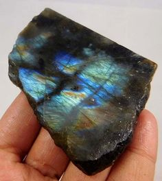 360 Cts. 100%  NATURAL BLUE FLASHY LABRADORITE SLICE ROUGH LOOSE GEMSTONE(S474 #NagmaGems