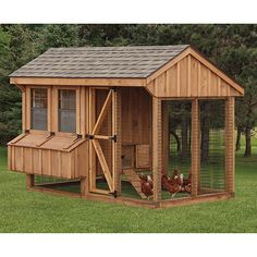 Combinations run and CHICKEN COOPS for 10 chickens, 11 chickens, 12 chickens, or 13 chickens Amish Chicken, Easy Chicken Coop, Chicken Coup, Chicken Coop Designs, Backyard Chicken Coops, Chicken Coop Plans, Building A Chicken Coop, Chicken Runs, Chickens Backyard