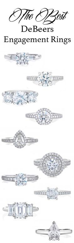 The best DeBeers diamond engagement rings (wedding, fine jewelry)