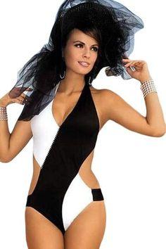 HerFashion Chic Halter Style Glamour Monokini Swimwear
