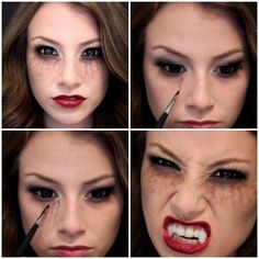 vampire diaries inspired halloween makeup