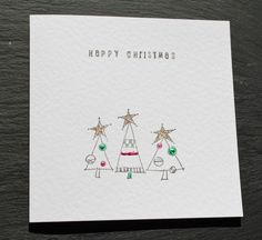 Handmade Christmas Cards.  Pack of 4 cards.  von DottyRainbows