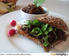 Cibulová marmeláda podle Ihnačáka Hamburger, Sandwiches, Beef, Chicken, Ethnic Recipes, Food, Red Peppers, Meat, Essen