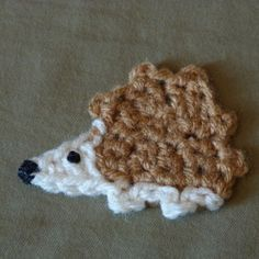 Crochet Spot: Trundle the Hedgehog - free crochet applique pattern by Amy Lynn Yarbrough