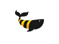 Creative Business Logo Designs for Inspiration # 42 Honey Whale Business Logo Design, Corporate Design, Creative Business, Whale Logo, Yellow Tree, Animal Logo, Logo Design Inspiration, Art Logo, Identity Design