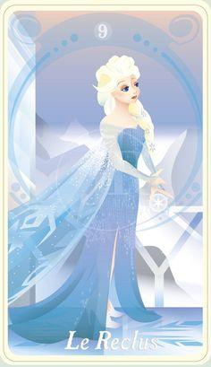 {The Princess Tarot} 'Le Reclus: Elsa' by suisei-ojii-sama on DeviantArt