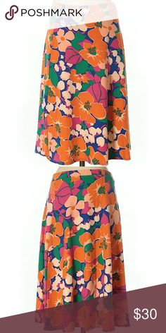 """Talbots Casual Skirt Size S A-Line silhouette Knee length Orange Floral Print 23"""" Length 58% Cotton, 38% Modal, 4% Spandex excellent condition Talbots Skirts"""
