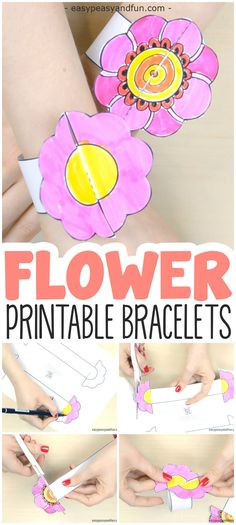 Accessorise for spring! Print our flower paper bracelets for kids, color them with your favorite colors, or even add intricate details on the flower, assemble and proudly wear. These can easily be matched with our paper butterfly bracelets, so you can have a flower on one hand and the butterfly on the other. This is …