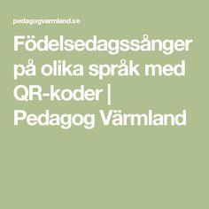 Födelsedagssånger på olika språk med QR-koder | Pedagog Värmland