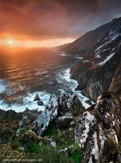 Slieve League cliffs, situated on the West coast of Donegal.  Stephen Emerson at http://dch.ie/1uKkEVe