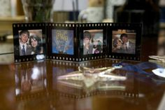 Movie-Themed Plastic Photo Frames - Perfect for Favors, Photobooths :  wedding black diy favor favors frame movie movietheme photobooth photoframes picture pictureframes reception Photoframe