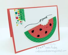 Summer Watermelon Card and Weekly Deals! :: Confessions of a Stamping Addict Lorri Heiling
