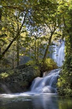 Waterfall, Monasterio de Piedra, Zaragoza, Spain by MyohoDane
