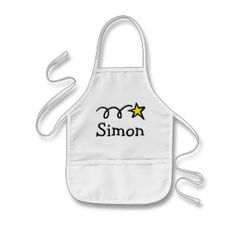 Personalized cooking apron for kids