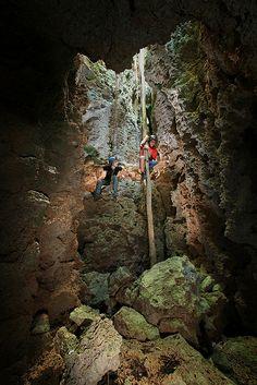 Cueva de Almeida, entrance 2, Isla Caja de Muertos, Reserva Natural de Isla Caja de Muertos, Municipalty of Ponce, Puerto Rico, Coffin Island, Ameida Cave