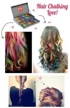Hair Chalking 101.  Good for crazy hair days at school