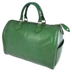 Louis Vuitton Epi Leather Speedy 30 Green Satchel. Save 76% on the Louis Vuitton Epi Leather Speedy 30 Green Satchel! This satchel is a top 10 member favorite on Tradesy. See how much you can save