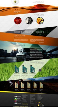 Sub Page – Web UI Design Concept by Provoco for an Oil Rafinery in Slovakia