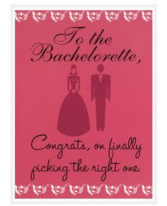 To the bachelorette - greeting card