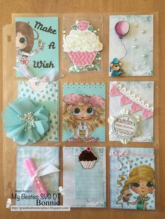Grandma Bonnie's Place: Pocket Letters, Pocket Letters... are here.. This one is Sherri Baldy's Bestie Party collection!