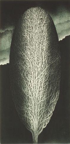 "Leszek Wyczolkowski, ""Apparition,"" 1994, Aquatint (intaglio printmaking technique) 5/125, 60 x 29cm"