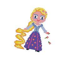 RAPUNZEL  Cross stitch Pattern PDF  Princess cross di POWSTITCH
