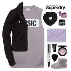 """The Cover Up – Jackets by Superdry: Contest Entry"" by amazing-abby ❤ liked on Polyvore featuring Acne Studios, Pineider, Miss Selfridge, GlamGlow, Superdry, MAC Cosmetics, UGG, NARS Cosmetics and Bobbi Brown Cosmetics"