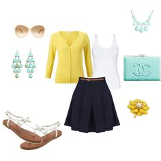 Yellow summer, created by hannahdawn24 on Polyvore