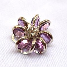 2pcs 17mm Purple Flower Acrylic Clear Beads Loose Findings for Fashion Design f037