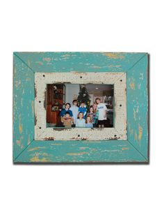 Distressed Farmhouse Frame - Aqua