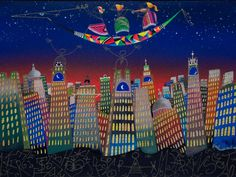 Concertino per una metropoli sognata http://www.pisacanearte.it/index.php/artisti/m/meloniski-da-villacidro/meloniski-da-villacidro-concertino-per-una-metropoli-tecnica-mista-su-tela-60x80-cm.html
