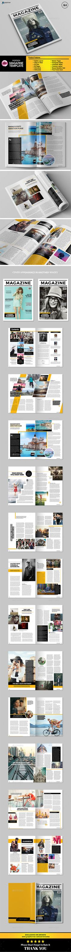 Magazine Template InDesign INDD. Download here: http://graphicriver.net/item/indesign-magazine-vol3/16198409?ref=ksioks