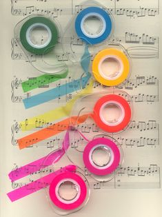 Helpful tape for music analysis or to highlight parts for students who may have a hard time following their part in a score.