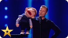 Say whaaat? Paul Zerdin left speechless by puppet! One Line Jokes, Lost Voice, Comedy Acts, R Lol, Britain Got Talent, Get Up And Walk, Stand Up Comedy, America's Got Talent, American Idol