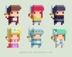 Platformer Pixel Sprites by agifarclor on DeviantArt
